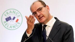 Le Premier ministre Jean Castex lors d'une conférence de presse, le 3 septembre 2020.
