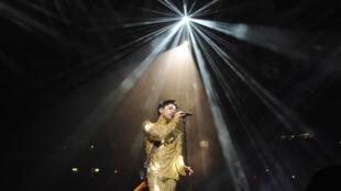 Prince au Madison Square Garden le 7 Février 2011 à New York City .