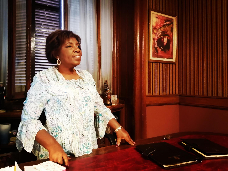 Gloria Rodríguez Santo, première femme d'origine africaine à être élue au Sénat en Uruguay.