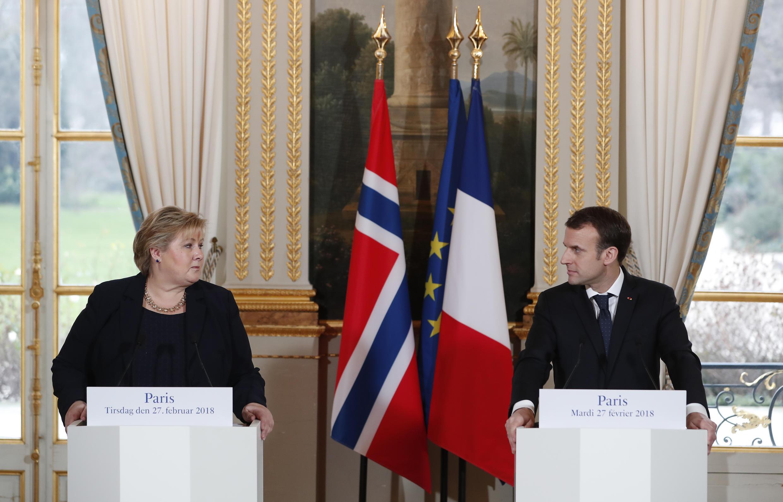 Norvège - Noruega - Erna Solberg - Emmanuel Macron - France