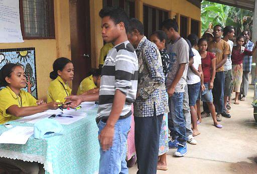 Dili, Timor Leste eleições 2012