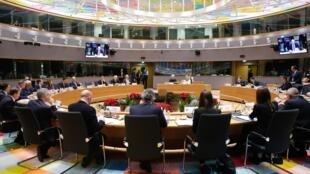 Lors d'une réunion du Conseil de l'Union européenne, en décembre 2019.(Illustration)