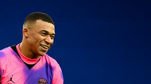 O atacante do Paris Saint-Germain Kylian Mbappé