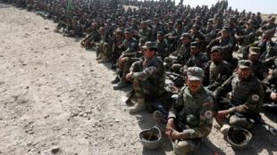 Des militaires de l'armée nationale afghane, lors d'un entraînement à Kaboul, le 17 octobre 2017.
