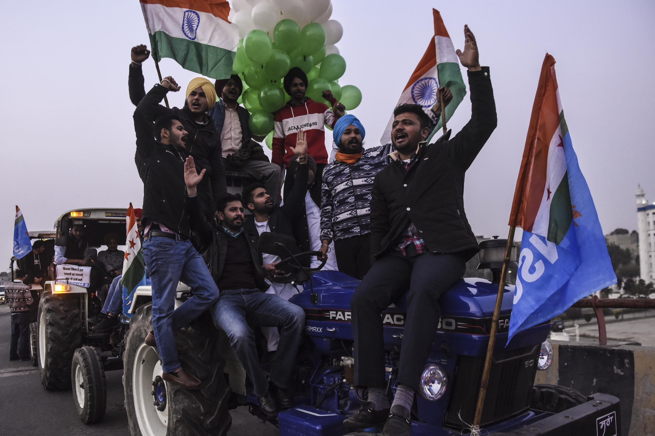 Farmers in India will hold a rally against the government's new agricultural laws the country's Republic Day