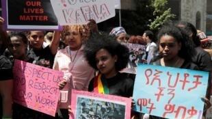 Des travailleurs étrangers manifestent à Beyrouth, le 5 mai 2019 (image d'illustration).