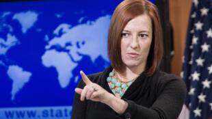 Jen Psaki, porte-parole du Département d'Etat américain, le 7 janvier 2014.