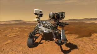 Ilustración facilitada por la NASA que muestra el nuevo rover Perseverance