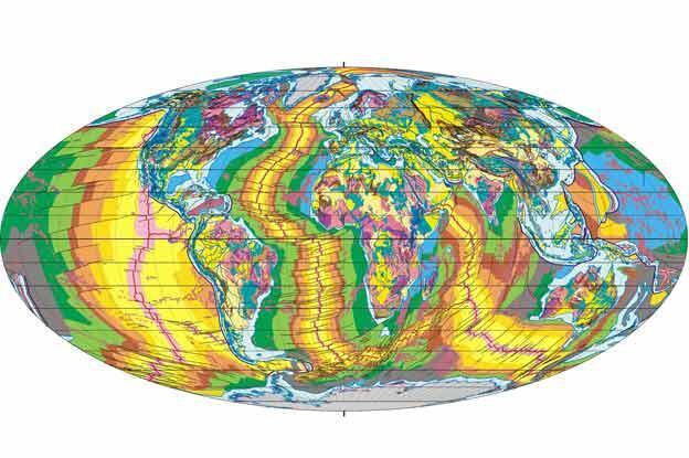 Comment lire la carte géologique du monde ?
