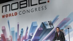 Randall Stephenson, presidente ejecutivo de AT&T, este 25 de febrero en Barcelona.
