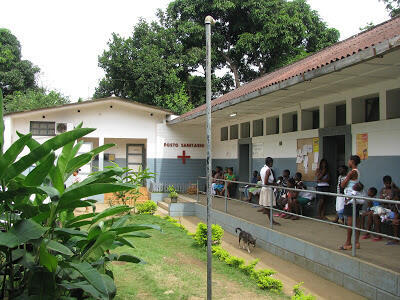 Imagem de um Centro Sanitário em Moçambique.