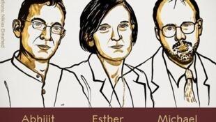 """جایزه نوبل اقتصاد سال ۲۰١۹ ، از سوی """"آکادمی سلطنتی علوم سوئد"""" مشترکاً به ٣ اقتصاددان، """"Française Esther Duflo"""" فرانسوی-آمریکایی، """"Abhijit Banerjee"""" هندی-آمریکایی و """"Michael Kremer"""" آمریکایی، اهداء شد."""