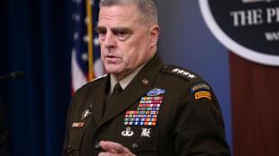 美军参谋长联席会议主席马克·米利上将.