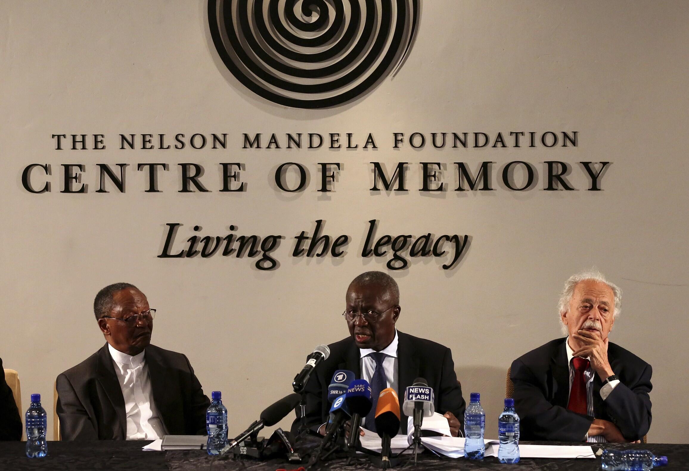 Coletiva de imprensa sobre o testamento de Nelson Mandela e sobre a gestão da sua herança em Johanesburgo.
