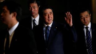 日本首相安倍晉三2017年3月17日東京
