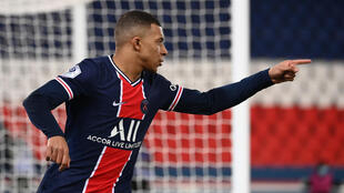Kylian Mbappé scored two of Paris Saint-Germain's goals in their 3-0 win over Lille in the last 16 of the Coupe de France.