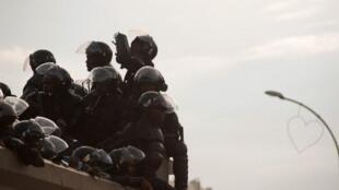 Des policiers congolais dans les rues de Lubumbashi. (Image d'illustration).