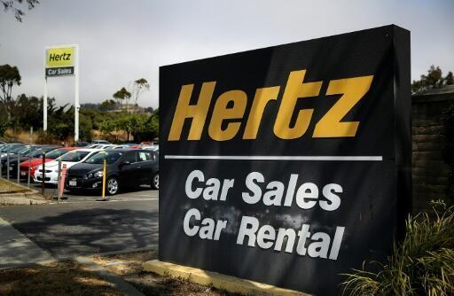 Ponto de locação Hertz, em São Francisco (8/8/2017).