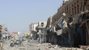 Une rue de Saada, dans le nord du Yémen, le 22 mai 2015.