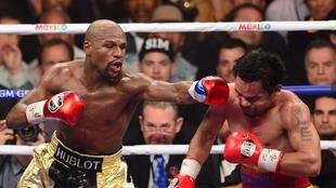 Floyd Mayweather against Manny Pacquiao.