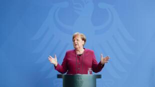 德国总理默克尔 2020年4月17日 资料照片