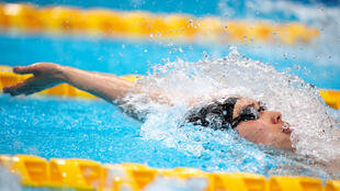 Japan's Kosuke Hagino swims in the men's 200m medley final during the Japan National Swimming Championships, which doubles as a qualifier for the 2020 Olympics