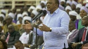 President Uhuru Kenyatta addressing worshippers at the Annual General Conference of the Akurinu Churches Assembly at the Moi International Sports Centre, Kasarani, on June 16, 2019