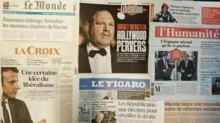 Jornais franceses desta quinta-feira 12 de Outubro de 2017.