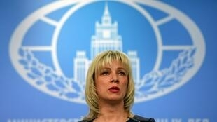 Russian Foreign Ministry spokeswoman Maria Zakharova speaks to the media in Moscow on March 29, 2018