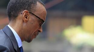 Rais wa Rwanda Paul Kagame alipowasili katika Mkutano wa Nchi za Jumuiya ya Afrika Mashariki huko Nairobi Novemba 30, 2012.