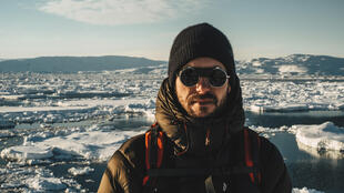 L'artiste Molecule au Groenland.