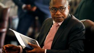 Le nouveau ministre des Finances du Zimbabwe, Mthuli Ncube, le 10 septembre à Harare avant sa prestation de serment.