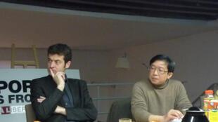 Cuộc họp báo tại trụ sở RSF sáng 14/12/2010.