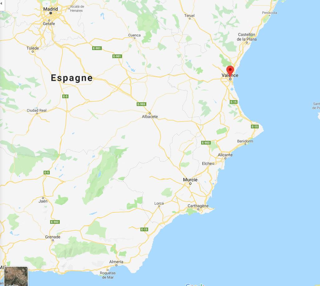 C'est la côte méditerranéenne de l'Espagne, les régions de Valence et Murcie, qui ont été les plus touchées par les pluies diluviennes de ces derniers jours.