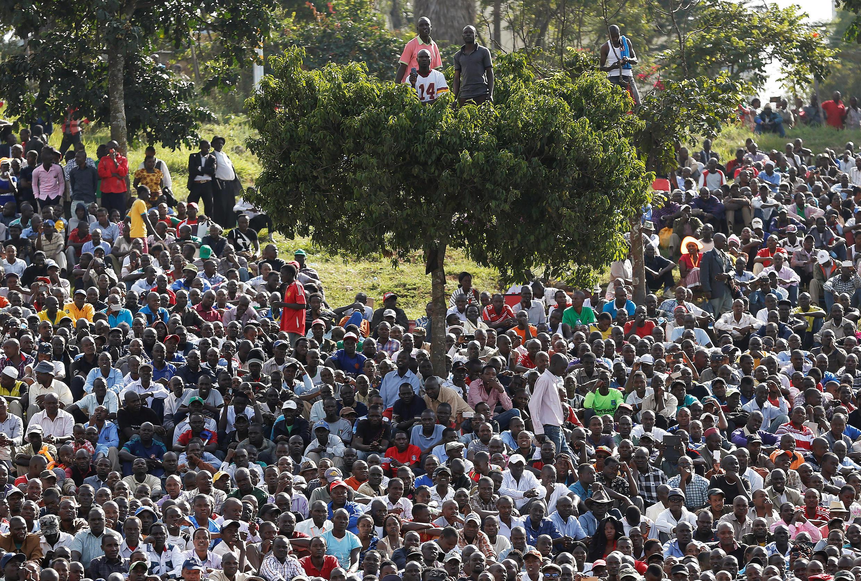 Waandamanaji wa upinzani nchini Kenya wakiwa bkatika maandamano Juni 1 mwaka huu