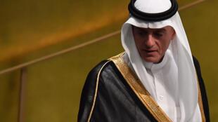 Ministro saudita das Relações Exteriores, Adel Al-Jubeir, durante reunião na ONU, 28/09/2018