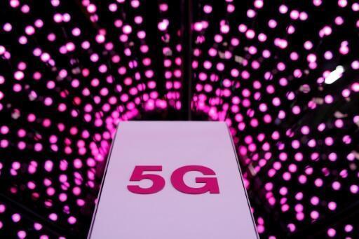 El puesto de la empresa alemana Deutsche Telekom en el Congreso Mundial de la Telefonía Móvil de Barcelona, el 26 de febrero de 2018