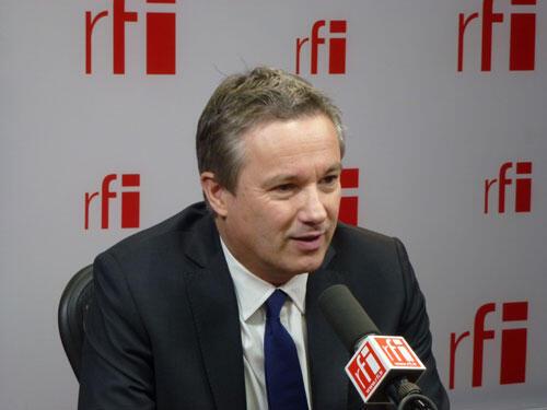 Nicolas Dupont-Aignan, candidato del partido Arriba la República a la elección presidencial.