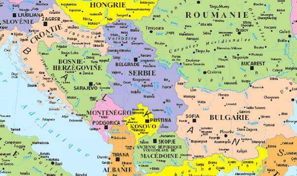 La carte des Balkans.