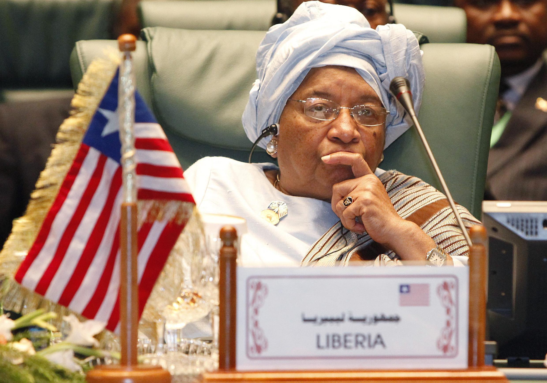 Shugabar kasar Liberia Ellen Johnson Sirleaf.