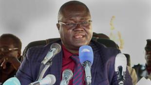Jean-Luc Bénoudjita, premier vice-président de la Commission électorale nationale indépendante (Céni), le 14 février 2020 à Ndjamena, Tchad.