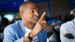Moïse Katumbi, ici en novembre 2011 à Lubumbashi lors d'une rencontre avec des représentants de la Monusco.