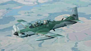 Super Tucano da Força Aérea Brasileira.