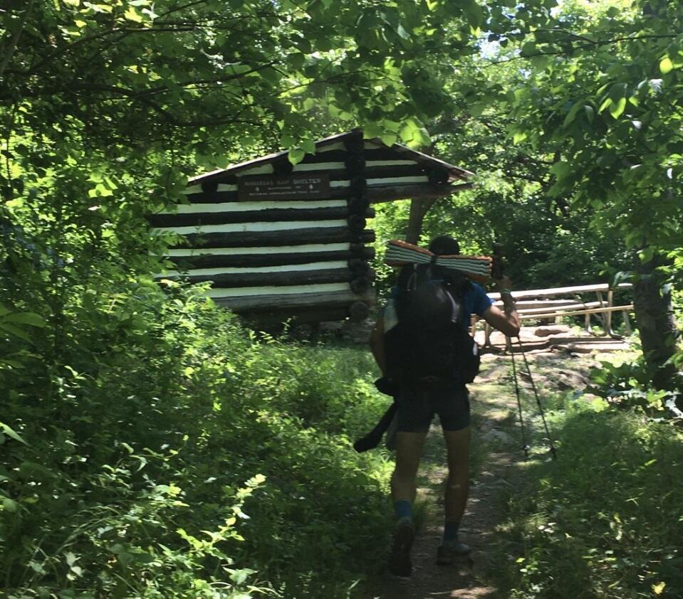 USAarrivee d'un marcheur à l'abri Manassas Gap (1)