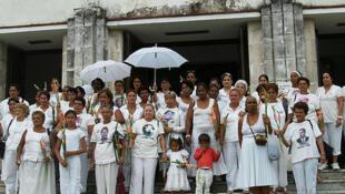 Manifestación de las Damas de Blanco.