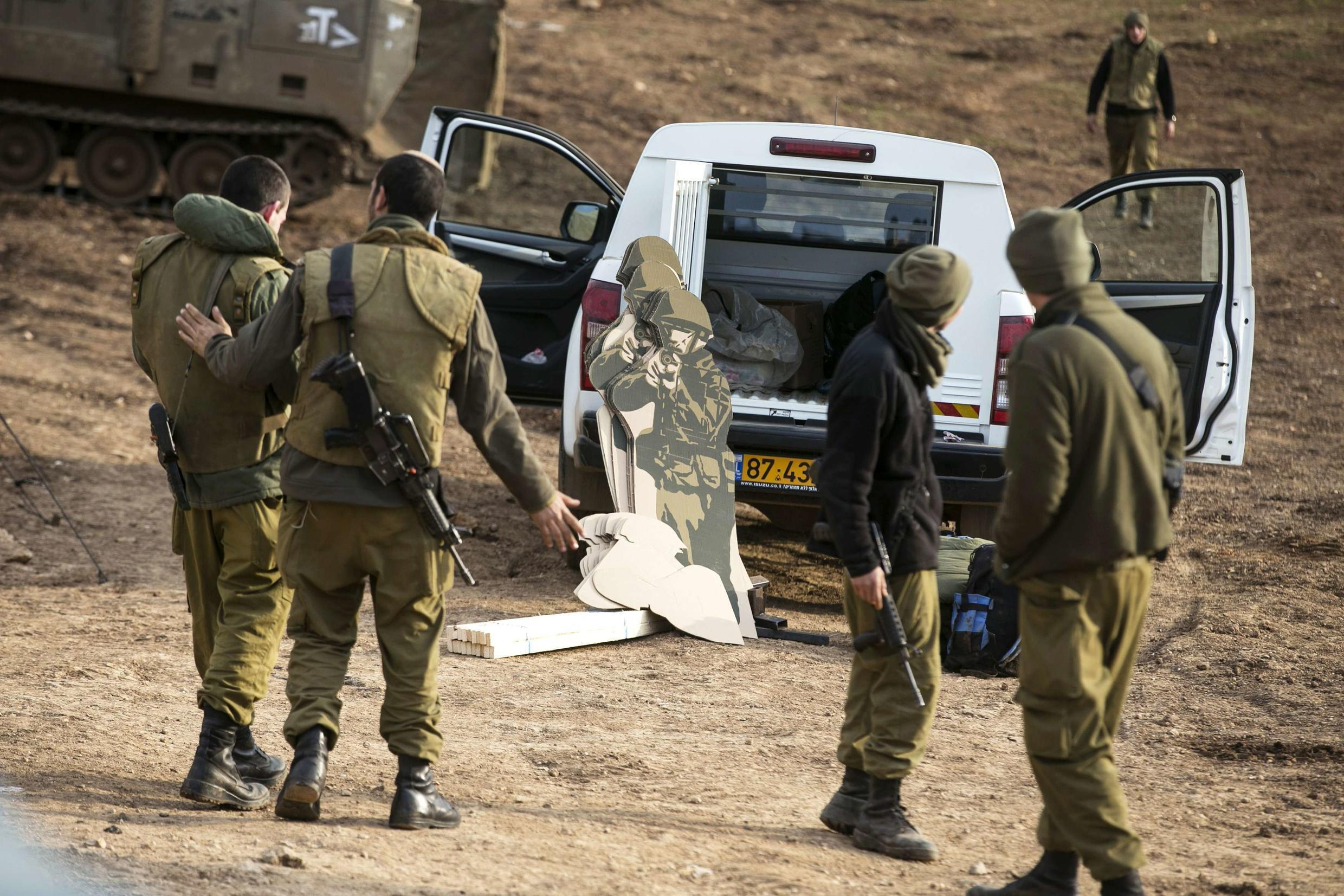 Israeli soldiers patrolling along the border with Syria in the Golan Heights earlier this year.
