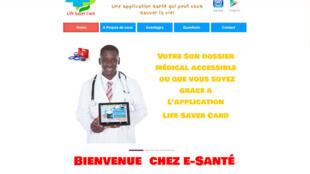 Capture d'écran de la page d'accueil du site web de E-santé Togo.