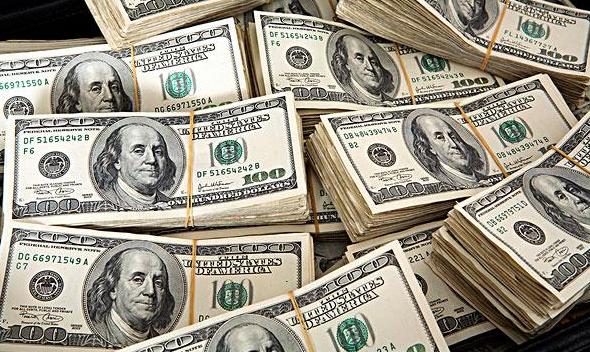 图为美元纸钞