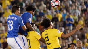 Brasil empatou com o Equador, 0 A 0, na estreia da Copa América Centenário neste sábado, 4 de junho de 2016, em Pasadena, nos Estados Unidos.
