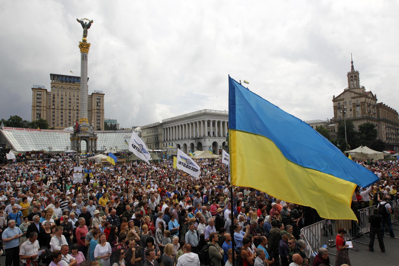 A praça Maidan, no centro da capital Kiev, abrigou os principais protestos contra a política do ex-presidente Viktor Yanukovitch e se tornou o símbolo da contestação ucraniana.